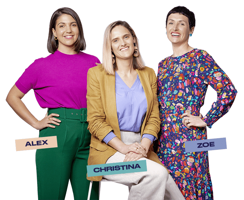 About Us About Us Verve Super Founders Alex Andrews Christina Hobbs Zoe Lamont