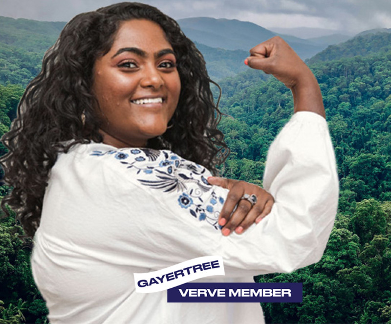 Verve Member over Sustainable Nature Image