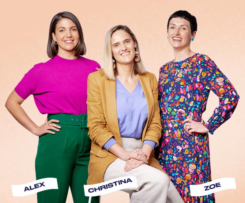 Verve Super Co-Founders Alex Andrews, Christina Hobbs and Zoe Lamont