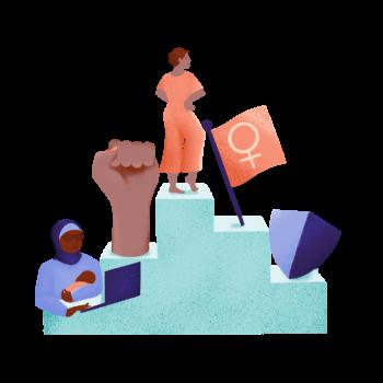 Investing in women illustration